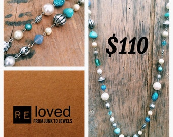 Re-Loved Long Beaded Necklace 039