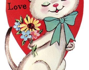 All My Love Digital Instant Download Vintage Valentine Card