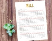 Bill Tracker - Budget Planner, Financial Planner, Planner pages, Life Planner, Household Binder, Erin Condren inspired, instant download
