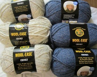 Wool-Ease Chunky by Lion Brand in Wheat (402)