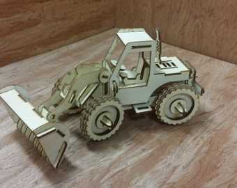 Items Similar To Laser Cut Puzzle Model Bucket Loader On