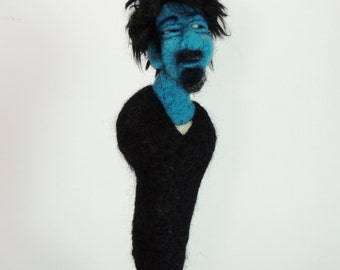 Needle felt dolls//portrait doll//figurative soft sculpture//felt portrait//felt dolls//art dolls//collectable//handmade
