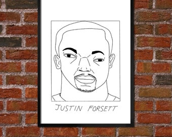 Badly Drawn Justin Forsett - Baltimore Ravens Poster