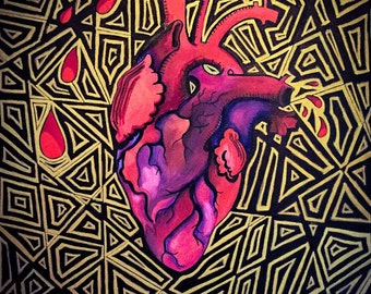 Anatomically Correct Heart illusion painting
