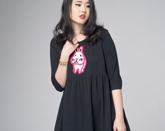 White Rabbit Black Cotton Dress