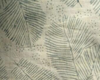 BATIKS, BATIKS,Island Batik,beige and grey leaves