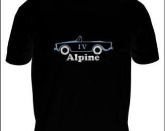 Classic British Sunbeam Alpine Convertible Car T-Shirt, Men's Classic Car T-shirt, Men's Rally Car T-Shirt, Men's Sports Car T-Shirt