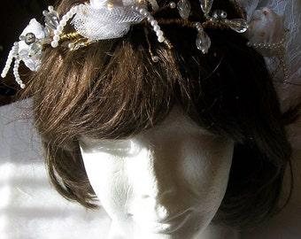 Tiara wedding, ring wedding, Bridal Crown wedding hair jewelry, accessory Elvish hair, hair married, married headdress