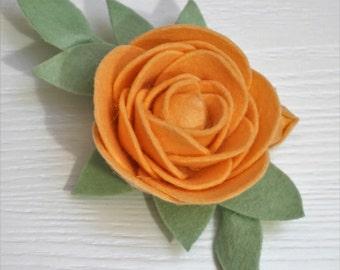 Felt Rose Brooch. Eco friendly brooch. Statement brooch