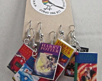 "Harry Potter Book Earrings from ""The Earring Library"""