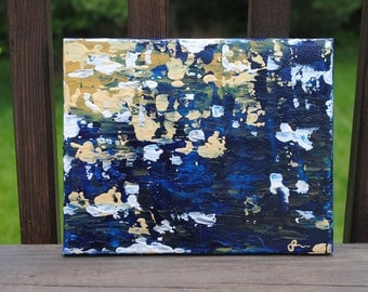 "8x10 Original Abstract Acrylic Painting on Canvas: ""Sail"""