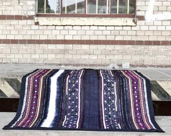 "Bedspread ""bright thai"" (Plaid, blanket, bed cover, sofa cover, Cap, h'mong, batik)"