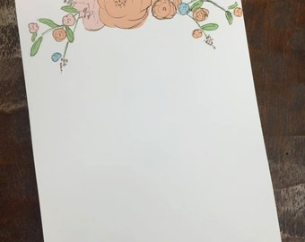 Floral Watercolor Notepad