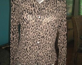 Newport News Leopard / Cheetah Blouse