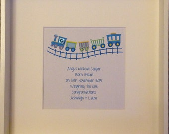 New Born Gift, Personalised Frame for a Baby Boy