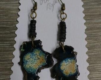 Earrings planet Earth