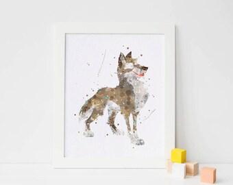 Balto poster watercolor dog wall art dog watercolor Balto print dog nursery dog poster dog printable Balto decor dog decor dog artwork dog