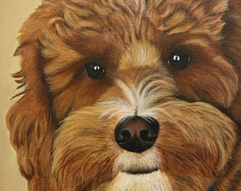 8x10 Custom Pet Portrait Painting