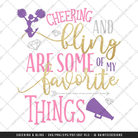 Cheering Bling Are Some Of My Favorite Things Svg