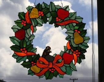 Autumn Wreath Sun Catcher
