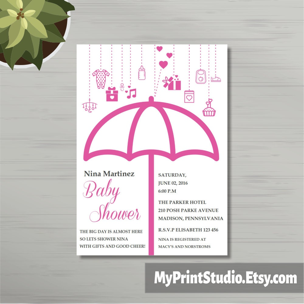 Printable Baby Girl Shower Invitation Template For Word Girl