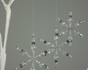 Crystal Snowflake, Crystal Ornament, Snowflake, Christmas, Ornament