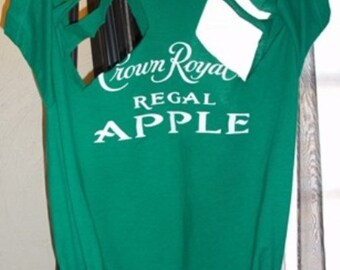 Refashioned Crown Royal Regal Apple Promo Cut-Out Tee