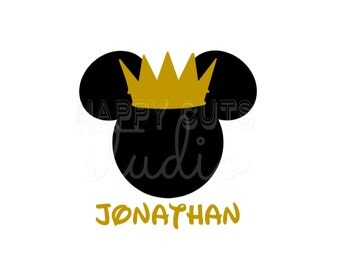 Personalized Prince King Prince Crown Royal Matching Family Vacation Birthday Mickey Mouse Disney Iron On Decal Vinyl for Shirt 185