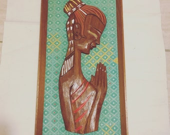 Vintage Praying Girl
