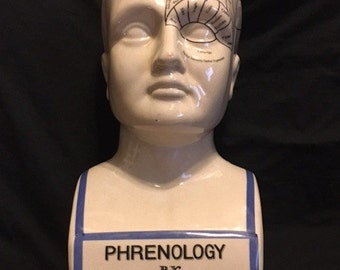 Vintage Phrenology Head/Bust Coin Bank