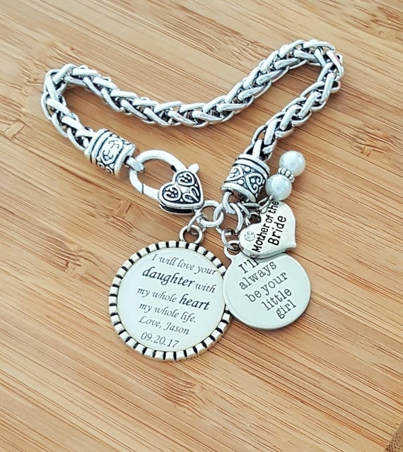 Mother of the Bride Gift Mother of the Bride Bracelet Wedding Gifts for Mother in Law Mother in Law Bracelet Mother in Law Gift Keychain