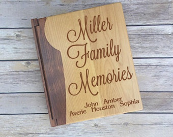 Family Photo Album, Photo Album with Last Name, Housewarming Gift, Newlywed Gift, Family Memories Photo Album, Family Memories, Our Family