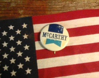 1972, McCARTHY  PRESIDENTIAL CAMPAIGN  Button