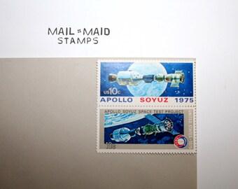 Apollo Soyuz Space Issue || Set of 10 unused vintage stamps
