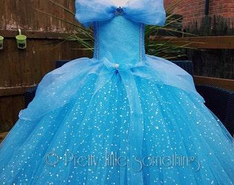 Cinderella inspired tutu dress costume party