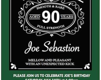 90th birthday party invitation, 5x7