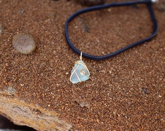 Light Blue Sea Glass Choker