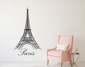 Beautiful Eiffel Tower Wall Decal Paris Silhouette Vinyl Stickers Decals Art Home  Decor Mural Vinyl Lettering Wall Part 18