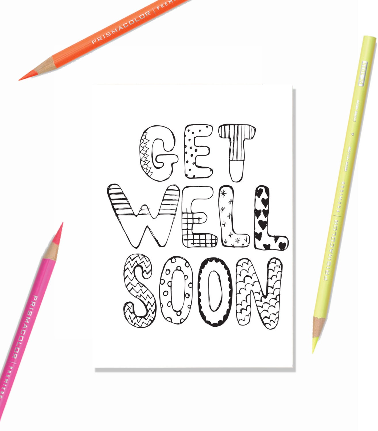 Clean image regarding get well soon card printable