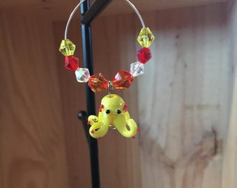 Octopus Wine Glass Charm