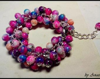 A Beaded Bracelet Bunch - Marble