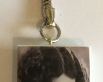 Vintage 1920's Actress Raquel Torres Altered Domino Key-Chain