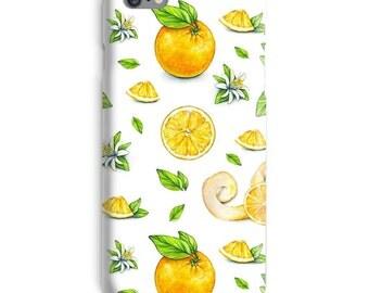 Orange iPhone Case, Fruit iphone case, White iphone 6 case, Vegan iphone 6 case, Lemon iphone 6s case, New iphone case