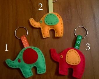 soft felt elephant Keyring