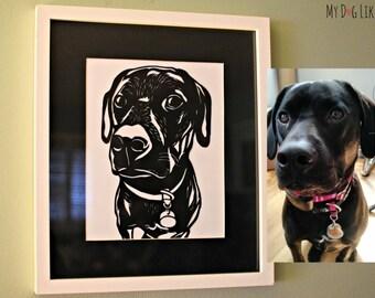 Paper Cut Pet Portrait (Hand Cut)