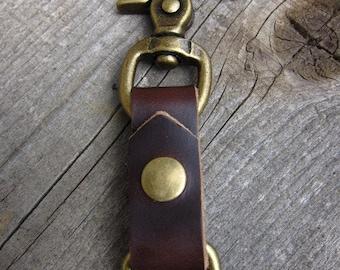 Brown Horween Chromexcel Keychain