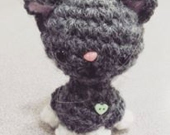 "3"" Amigurumi / Crochet Cat Doll"