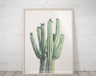 Cactus Art Print, Cacti Photography, Mexican Art, Neutral Print, Desert Print, Pastel Green Decor, Arizona Cactus, Aztec Art, Neutral Decor