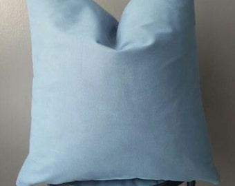 Suede Steel Blue Decorative Pillow-Insert Included-Soft Couch Pillow