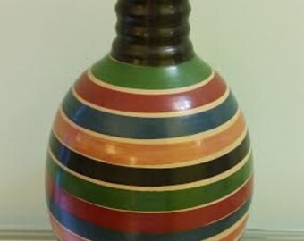 Stripped Colored Vase
